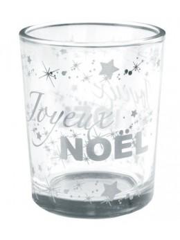 Photophore Noël argent