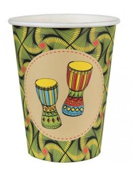 10 gobelets carton thème afrique