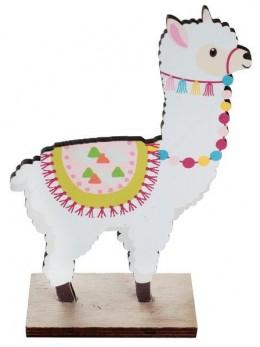 Déco bois petit Lama