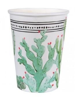 10 Gobelets carton cactus peruvien