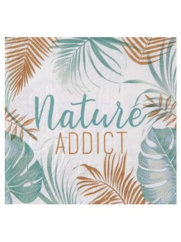 "20 Serviettes papier exotique ""Nature addict"""