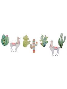 Guirlande papier Lama et cactus