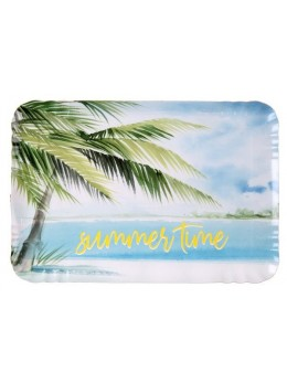 5 plateaux rectangulaires Beach party