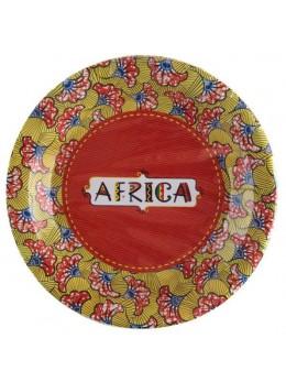 10 Assiettes carton thème Afrique