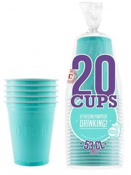 20 Gobelets Cup américains bleu pastel