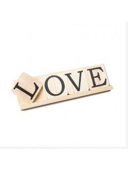 """Set 4 lettres bois """"Love"""""""