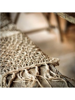 Chemin de table naturel macramé et ficelle
