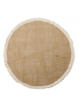 Centre de table rond jute et franges