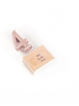 Bougie chiffre 4 rose gold