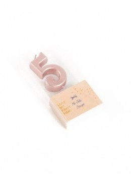 Bougie chiffre 5 rose gold