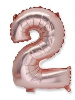 Ballon Chiffre 2 Rose Gold