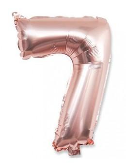 Ballon Chiffre 7 Rose Gold