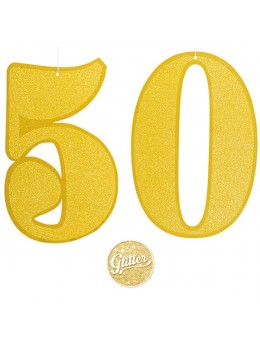 Chiffre carton or 50 ans