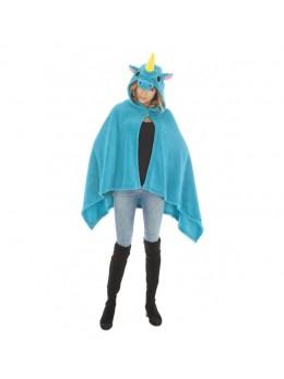Déguisement cape licorne bleue adulte