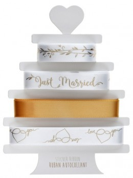 Lot de 4 rubans Just Married