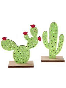 Cactus en bois