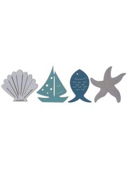 Confettis bois bord de mer