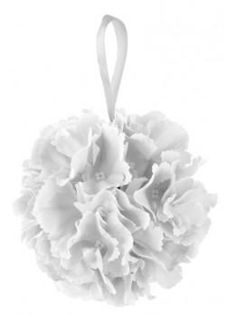 Boule de fleurs blanche 17cm