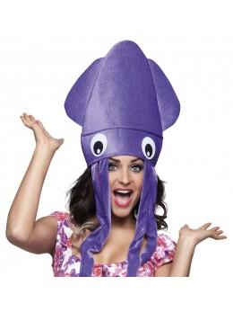 Chapeau pieuvre violette