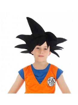 Perruque Manga Goku Saiyan enfant noire officielle