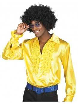 Chemise disco jaune