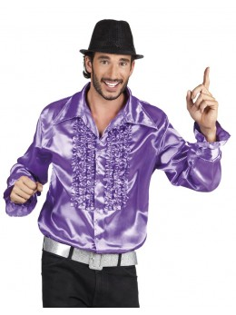 Déguisement Chemise disco violette