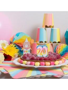 Bougies 20 ans multicolore