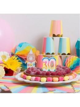 Bougie 30 ans multicolore