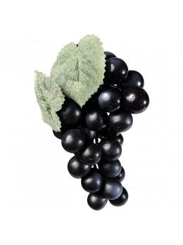 Grappe de raisins noir factice 19cm