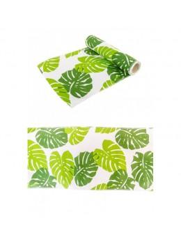 Chemin de table feuilles vert