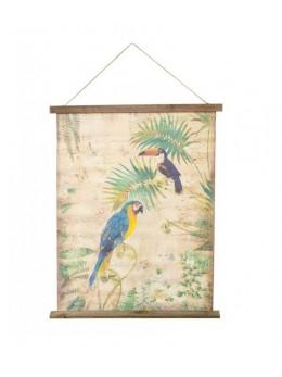 Décor kakemono motif oiseaux exotiques 58cm
