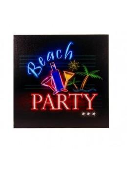 Décor tableau lumineux Beach Party 17 led