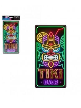 Plaque métal effet néon Tiki