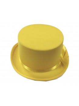 chapeau haut de forme gibus jaune