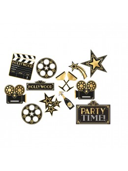 Lot de 12 décorations cinéma