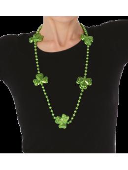 Collier plastique trèfle Saint Patrick