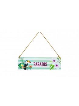 Pancarte bois paradis