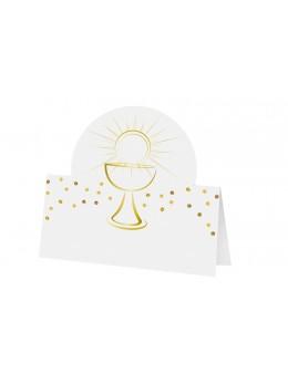 6 marque places communion calice