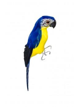 Perroquet bleu et jaune 20 cm