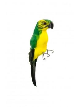 Perroquet vert et jaune 20 cm
