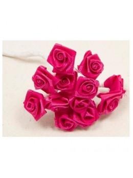 72 mini roses fuchsia