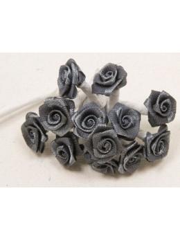 72 mini roses grises
