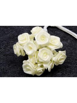 72 mini roses ivoire