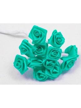 72 mini roses vert menthe