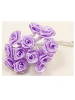 72 mini roses parme