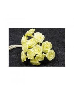 72 mini roses jaune