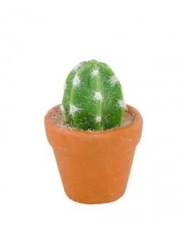 2 mini cactus en résine 5cm