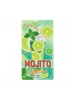 Plaque métal mojito cocktail