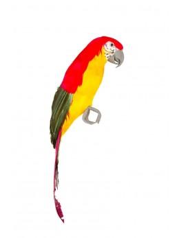 Perroquet rouge et jaune 39 cm