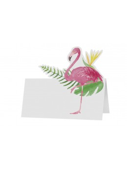 6 Marque place flamant rose